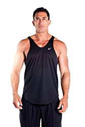 Mens Poly Stringer Tank Top by Pitbull in your choice of color (X-Large, Charcoal)