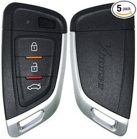 Pack of 5 Xhorse Car Universal Smart Proximity Flip Type Key Replacement Keyless Entry Remote Control Key Fob