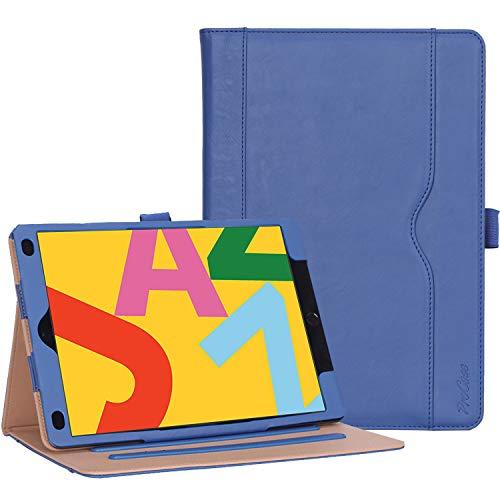 [해외]ProCase iPad 10.2인치 케이스 2019 7세대 빈티지 스탠드 폴리오 케이스 보호 커버 iPad 10.2인치 2019 출시용 다양한 시야각 자동 잠자기깨우기 애플 펜슬 홀더 네이비 / ProCase iPad 10.2 Case 2019 7th Generation iPad Case, Vintage Stand Fol...