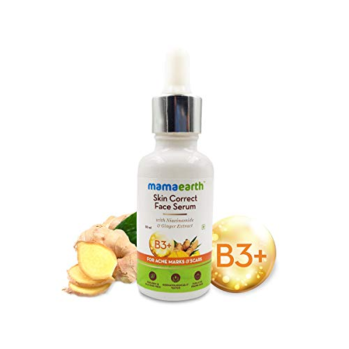 Mamaearth Skin Correct Face Serum Acne Scars removal cream with Niacinamide and Ginger Extract – 30 ml