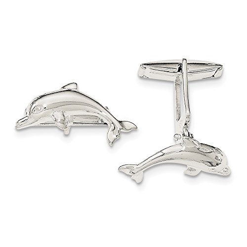 Sterling Silver Dolphin Cuff Links by CoutureJewelers