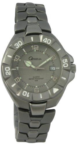 Orphelia 142-7603-48 Men's Analog Quartz Watch with Black Dial and Black Aluminum Bracelet