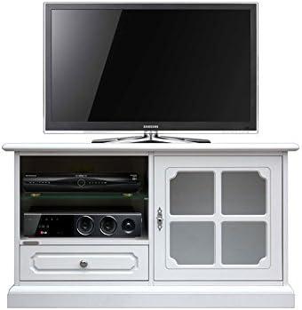 Mueble tv blanco bajo, Aparador tv madera blanca para salón, 1 ...