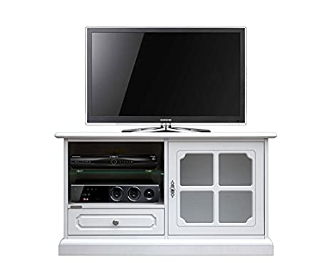 Porta Tv Classico Bianco.Mobile Porta Tv Bianco Stile Classico Porta Tv Vetrinta Per