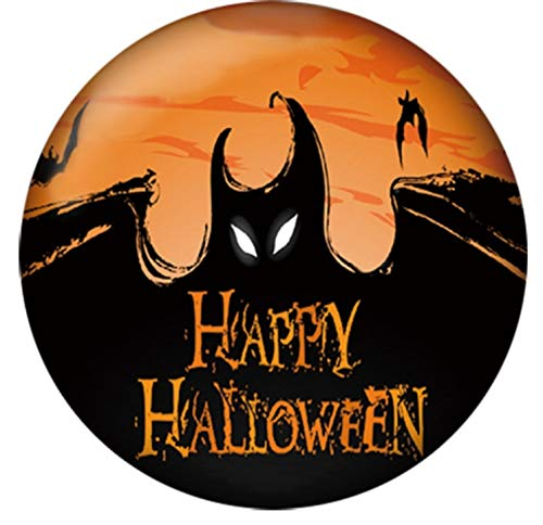 Black Orange Bat Happy Halloween Enamel 20mm Snap Charm for Ginger Snaps