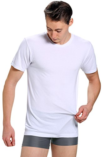 Men's Ultra Soft Merino Wool Undershirt / Baselayer - Moisture, Odor & Climate Control (Medium, White)