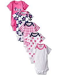 Baby Girls' 5 Pack Variety Bodysuits