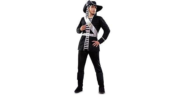 Disfraz de Pirata blanco y negro para hombre: Amazon.es: Juguetes ...