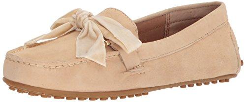Lauren Ralph Lauren Women's Bayleigh Driving Style Loafer, Beige, 7.5 B US (Lauren Womens Leather Ralph)