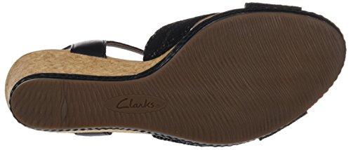 Clarks Ladies Helio Latitude Cinturino Alla Caviglia Nero (pelle Nera)