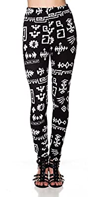 A.S Juniors Good Weight Black Pattern Long Legging Yoga/Gym Pants (One Size)