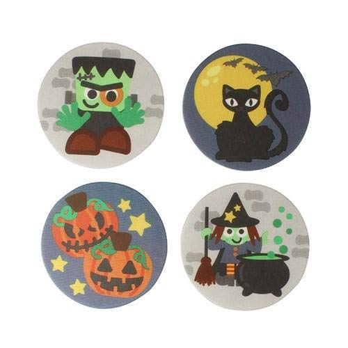 Halloween Biscuit Plaques Edible Cake Toppers - 24 Toppers ()