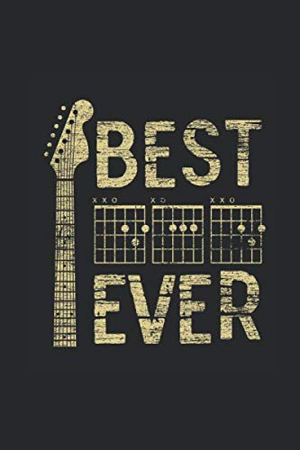 Best Dad Ever Guitar: Guitars Notebook, Blank Lined (6