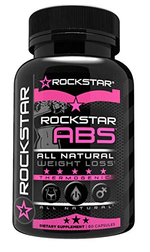 Rockstar Abs Targeted Fat Burner, Skinny Gal Weight Loss for Women, 1 Thermogenic Diet Pill and Fast Fat Burner, Carb Block & Appetite Suppressant, Weight Loss Pills, 60 Veggie Cap