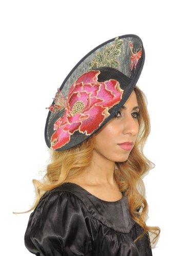 Hats By Cressida - Capeline - Femme Noir Noir Taille unique