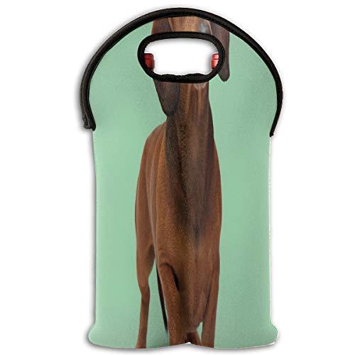 Wine Bag Weenie Dog Funny Animal 2 Bottle Red Wine Tote Bag Cooler Water Travel Bag -