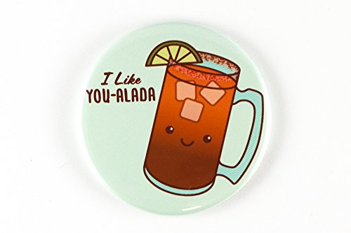 Funny Michelada Beer Cocktail Pun Magnet, Pinback Button, or Pocket Mirror