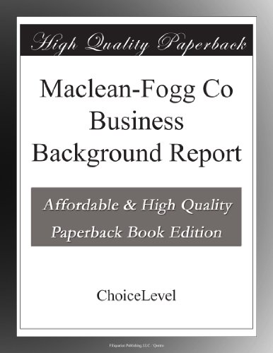 Maclean-Fogg Co Business Background Report