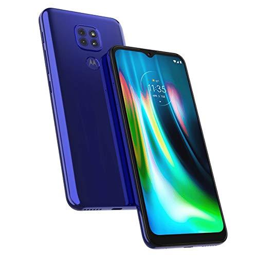 Motorola Moto G9 4G LTE GSM Unlocked XT2083-3 (LTE Global AT&T/Cricket/Tmobile/Mint/Latin/Europe) 64GB 4Gb Ram Triple Camera 48MP Night Vision NO CDMA International Version (Sapphire Blue, 64GB+4GB)