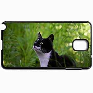 Customized Cellphone Case Back Cover For Samsung Galaxy Note 3, Protective Hardshell Case Personalized Cat Shadow Face Black