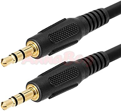"3ft 1//8/"" 3.5mm Stereo Audio Headphone Cable Cord Male to Male M//M MP3 Aux PC"