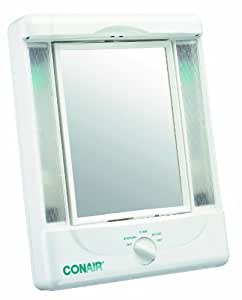 Amazon.com : Conair Two-Sided Lighted Makeup Mirror with 4 ...