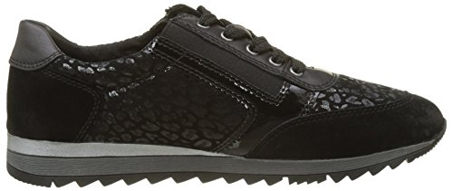 Sneakers 23603 Low Black Top Women's Jana xfqPIP