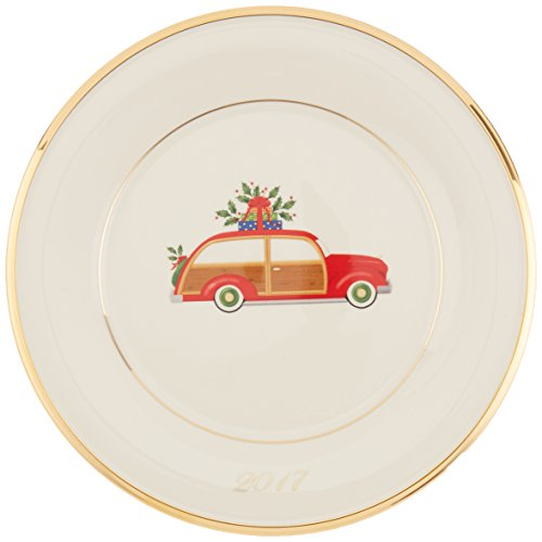 Lenox Holiday Accent Plate, Station Wagon Lenox China Accent Plate