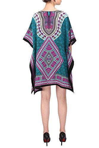 Nuit Lavish Vtements 123 Miss Loungewear Sarcelle les taille jours Vacances Tunique Tous Kimono Haut Grande London Femmes Plage pour Kaftan Robe Robes qOvRr7Od