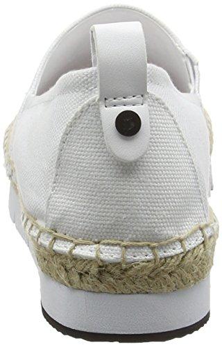 Ecru R3768wht Canvas Basses Rose Sneakers Klein Calvin Bonbon Femme Genna Jeans White qwxzXpPT