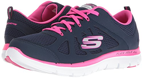 Confort Navy Pink Marino Memory Deportivo Mujer Plantilla Hot De Con Nvhp alto Cordones Skechers Foam 12761 wfqx7OzzZ