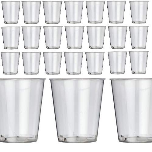 Oojami 200 Shot Glasses Premium 1oz Clear Plastic Disposable Cups, Perfect Container for Jello Shots, Condiments, Tasting, Sauce, Dipping, Samples