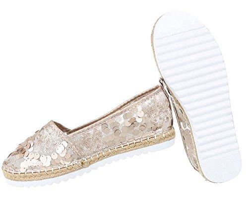 Damen Espadrilles Slipper | Bast Espadrills Schuppen | Glitzer Pailetten  Schuhe | Metallic Slip-Ons ...