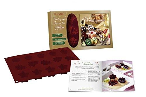 Weihnachts Back-Set Winterzauber: Silikonform und Buch: Backform für 15 Mini-Kuchen: Backform für 15 Mini-Kuchen. Viele Dekomöglichkeiten. Geeignet für Gebäck, Gelee & Pudding