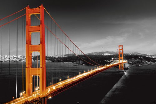 San Francisco Golden Gate Bridge PAPER POSTER measures 36 x
