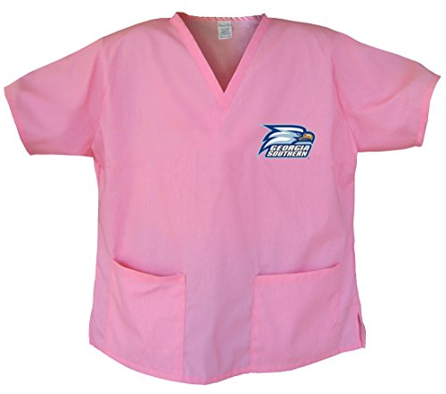 (Ladies Georgia Southern Shirts GSU Scrubs - Tops for Women XS Pink)
