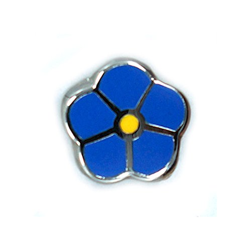 Wwii Lapel Pins (Freemasonic Forget Me Not WWII Blue Lapel Pin - 1/4