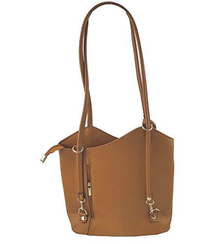 FreyFashion pour porté à femme Camel main Made in Sac Italy dos Glattleder au rxwzrqFf