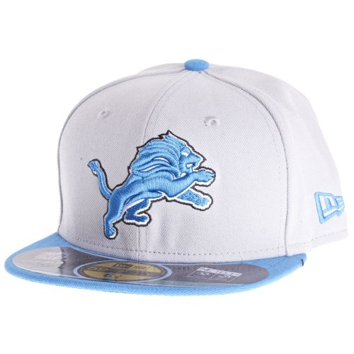 NFL Detroit Lions On Field 5950 Game Cap, White, 6 5/8, Youth