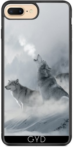 Coque Silicone pour Iphone 7 Plus / 8 Plus - Loup Faune Sauvage Imaginaire by WonderfulDreamPicture