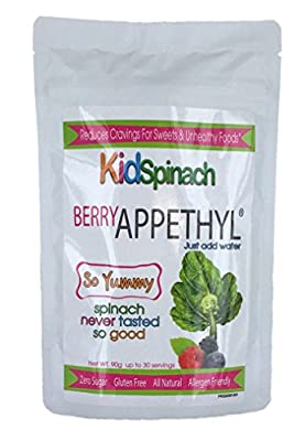 KidSpinach, Delicious Berry Flavor Drink, Reduce Cravings for Sweets, Pure Spinach Extract with Beet Powder