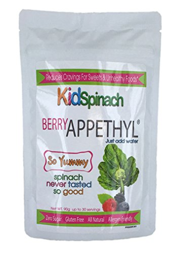 - KidSpinach, Delicious Berry Flavor Drink, Reduce Cravings for Sweets, Pure Spinach Extract with Beet Powder