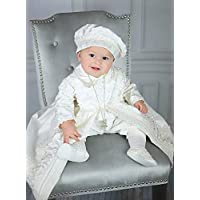 Baby Boy Christening Gown, Spanish Style outfit (ropones para bautizo). Baptism Outfit B001