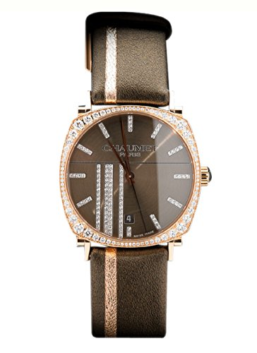 Chaumet Men's Watch Dandy Pave Edition 18K Rose Gold and Diamonds Date