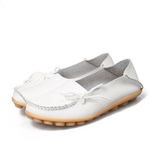 Loafer Femme Sandales Flat Blanc Plateforme Joansam Hdw7nZSqH
