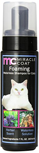 Miracle Coat Foaming Waterless Shampoo for Cats 7 oz. -