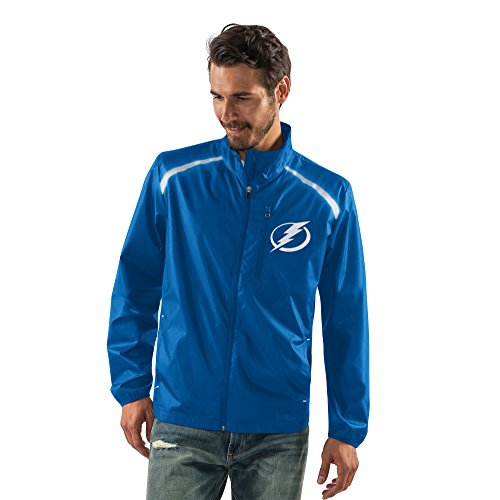 NHL Tampa Bay Lightning Men's Storm Full Zip Packable Jacket, Large, Royal (Bay Tampa Jacket)