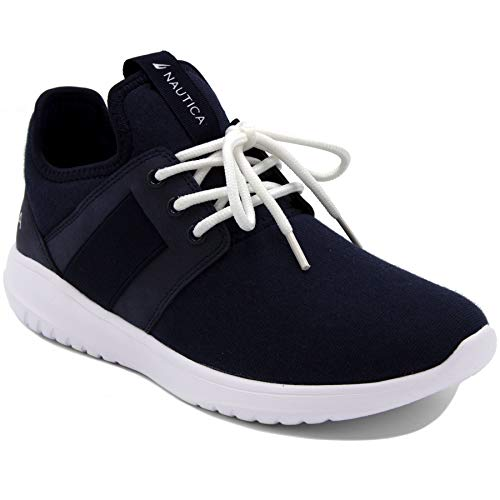 - Nautica Women Fashion Sneaker Lace-Up Jogger Running Shoe-Primage Heather-Navy-6