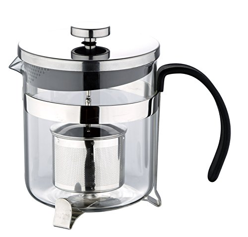 Chrome Cafetiere - Renberg Cafetiere with Plunger, Chrome, 16x 17x 17cm