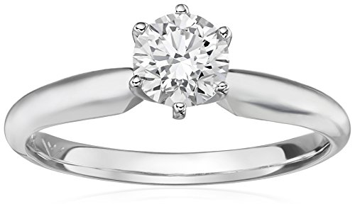 IGI Certified 14k White Gold Lab Created Diamond Solitaire Engagement Ring (3/4 carat, I-J Color, SI1-SI2 Clarity), Size - Created Gold Diamond Ring Solitaire